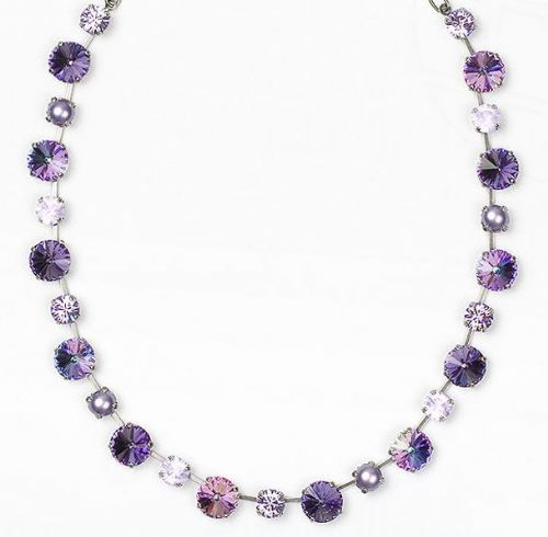 Necklace with Swarovski Crystals Purple